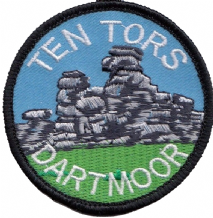 Ten Tors Dartmoor Devon County Embroidered Patch